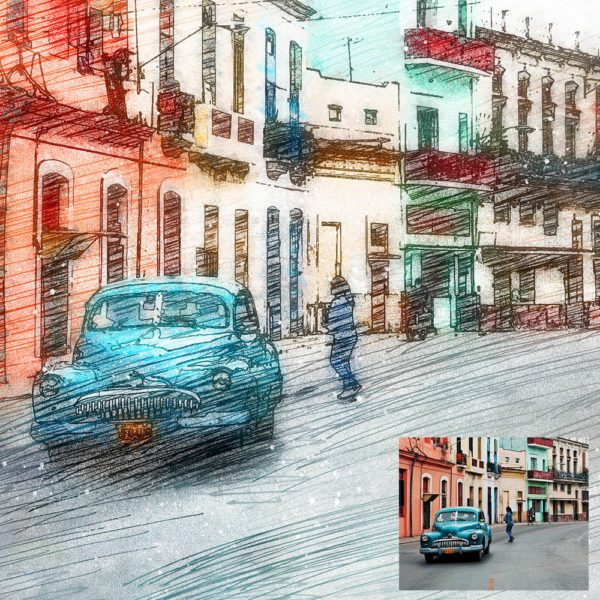 Free Color Pencil Sketch Photoshop Action