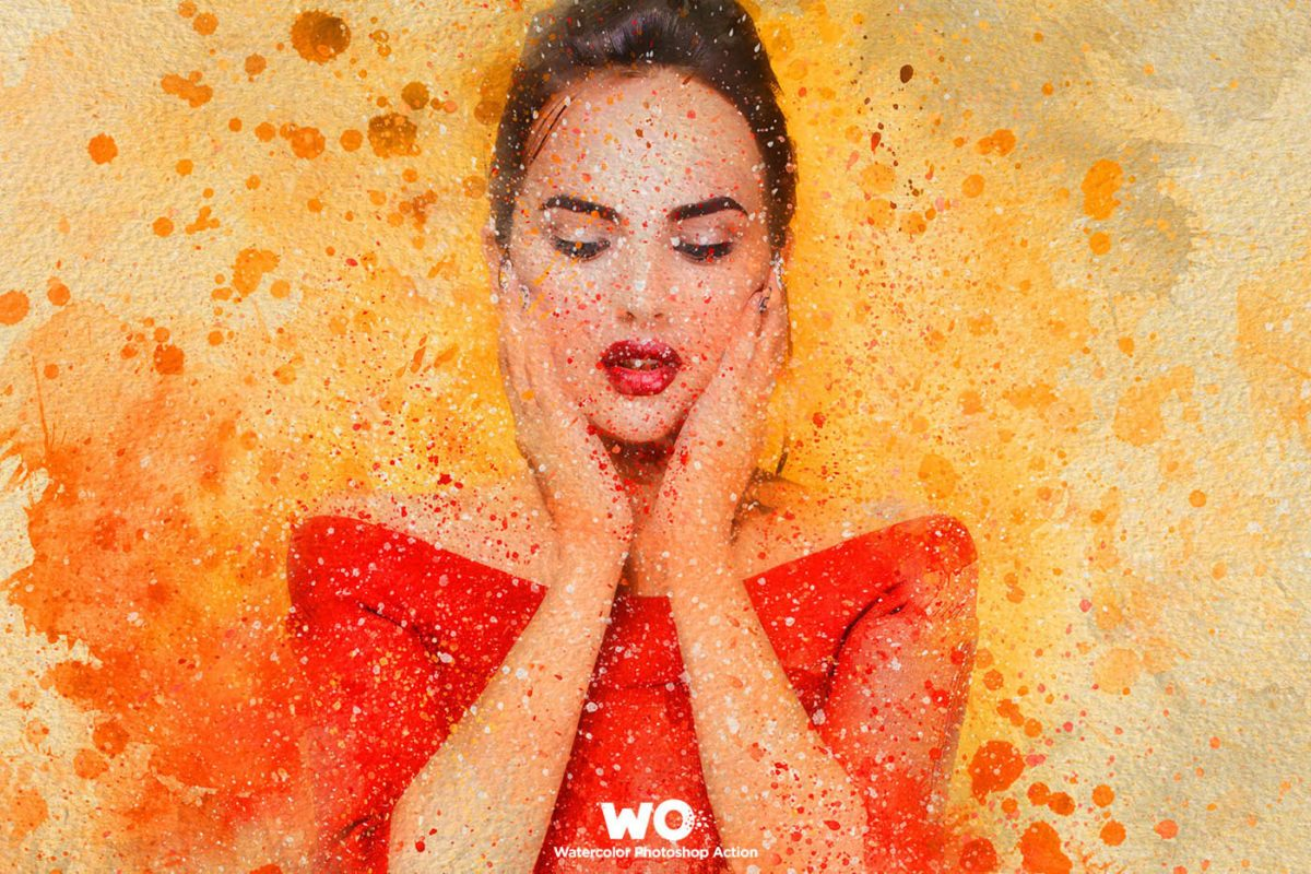 WO Watercolor Photoshop Action