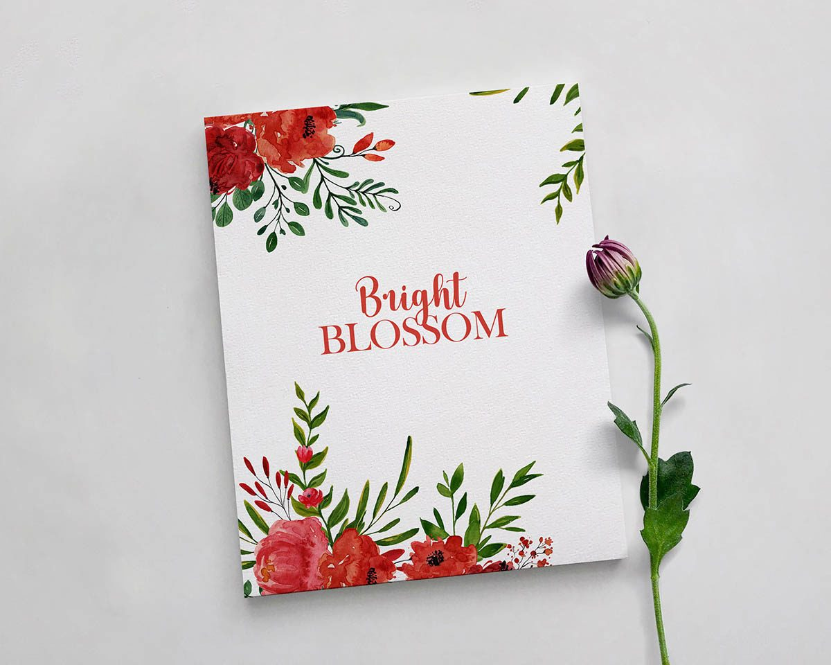 Bright Blossom Watercolor Flower Clipart Preview_5