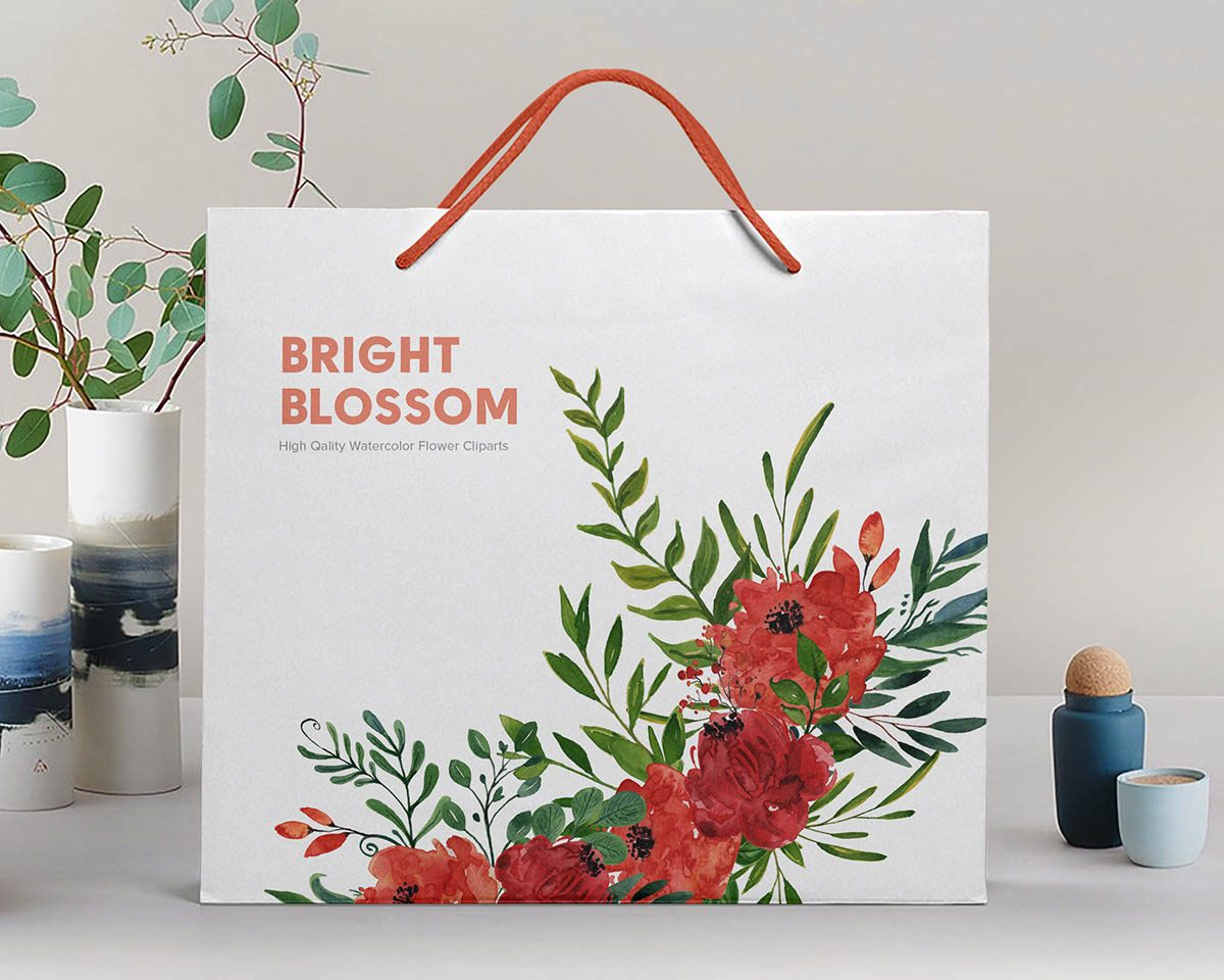 Bright Blossom Watercolor Flower Clipart Preview_7