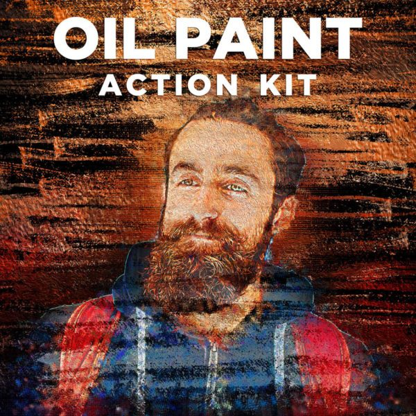 Oil Paint Photoshop Action Kit