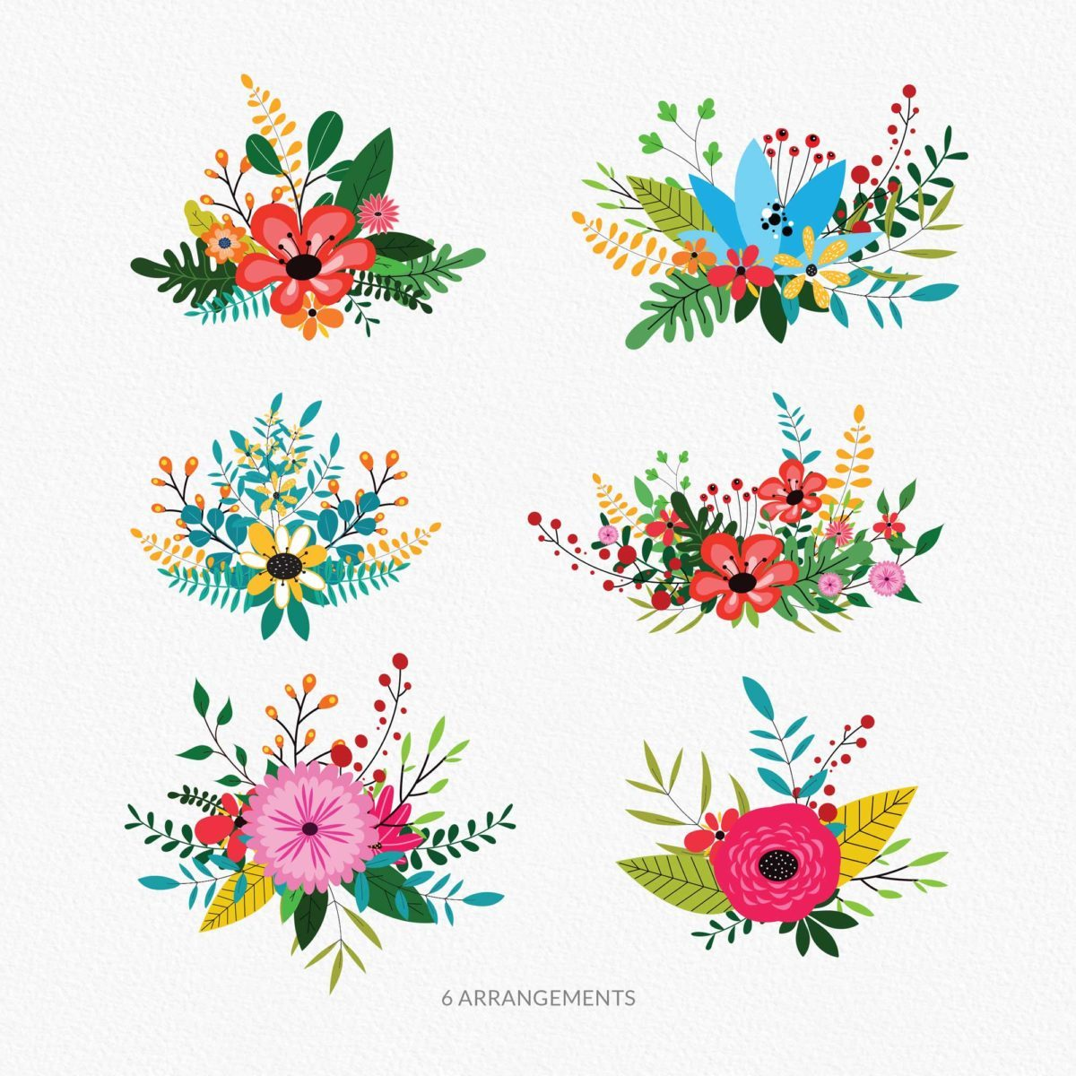 Garden Floral Clipart Collection_Preview_3