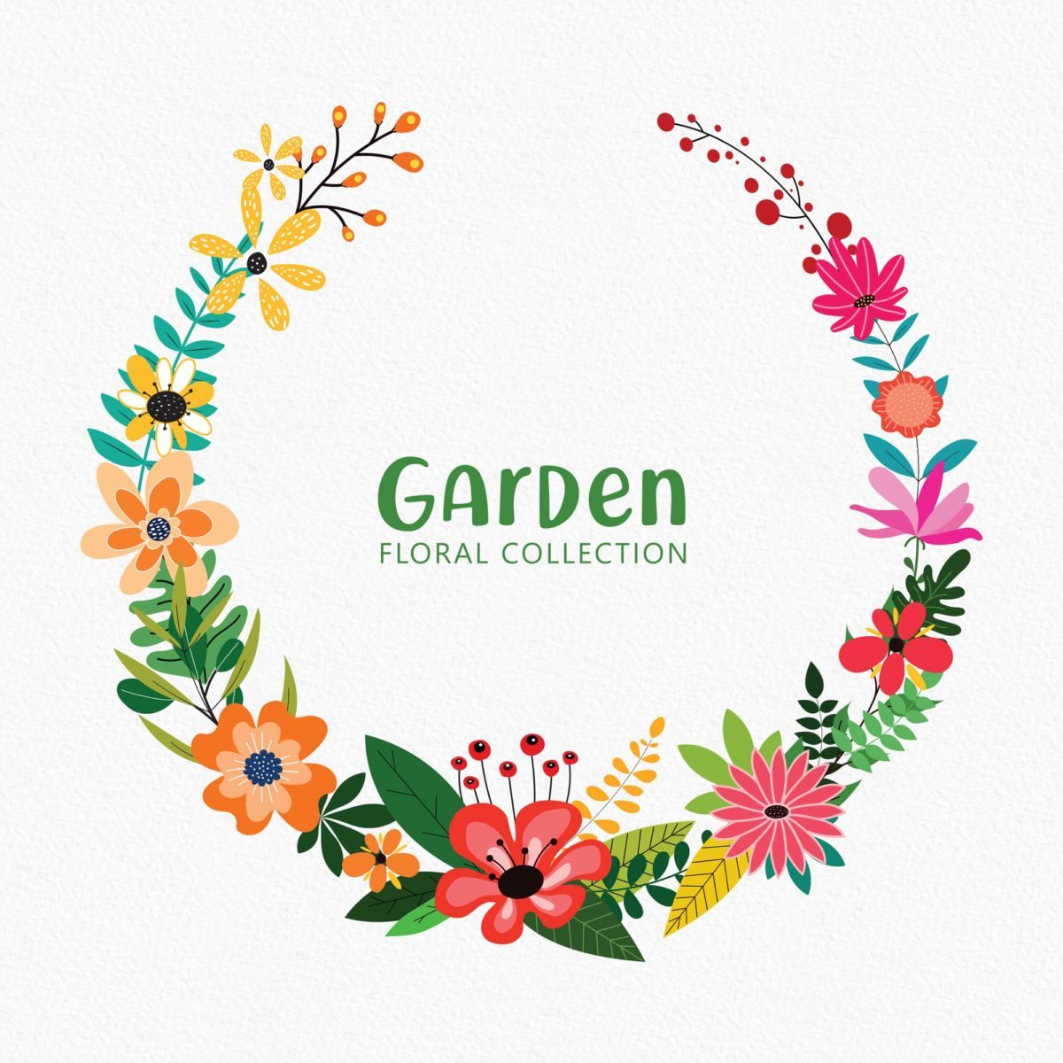 Garden Floral Clipart Collection_Preview_5