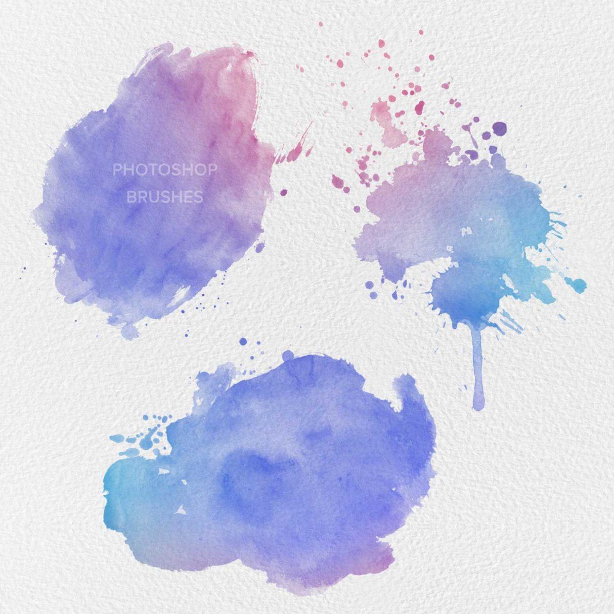 Aqua Watercolor Photoshop Brushes