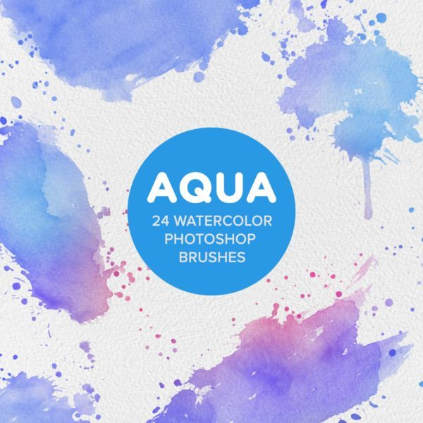 Aqua Watercolor Photoshop Brushes