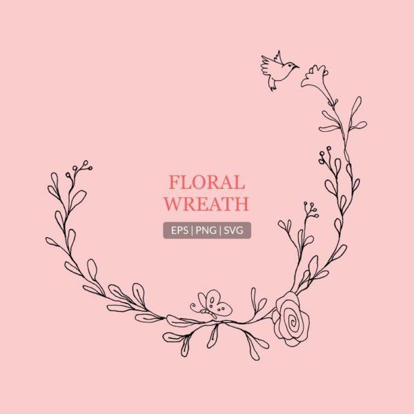 Floral Arrangements Lineart
