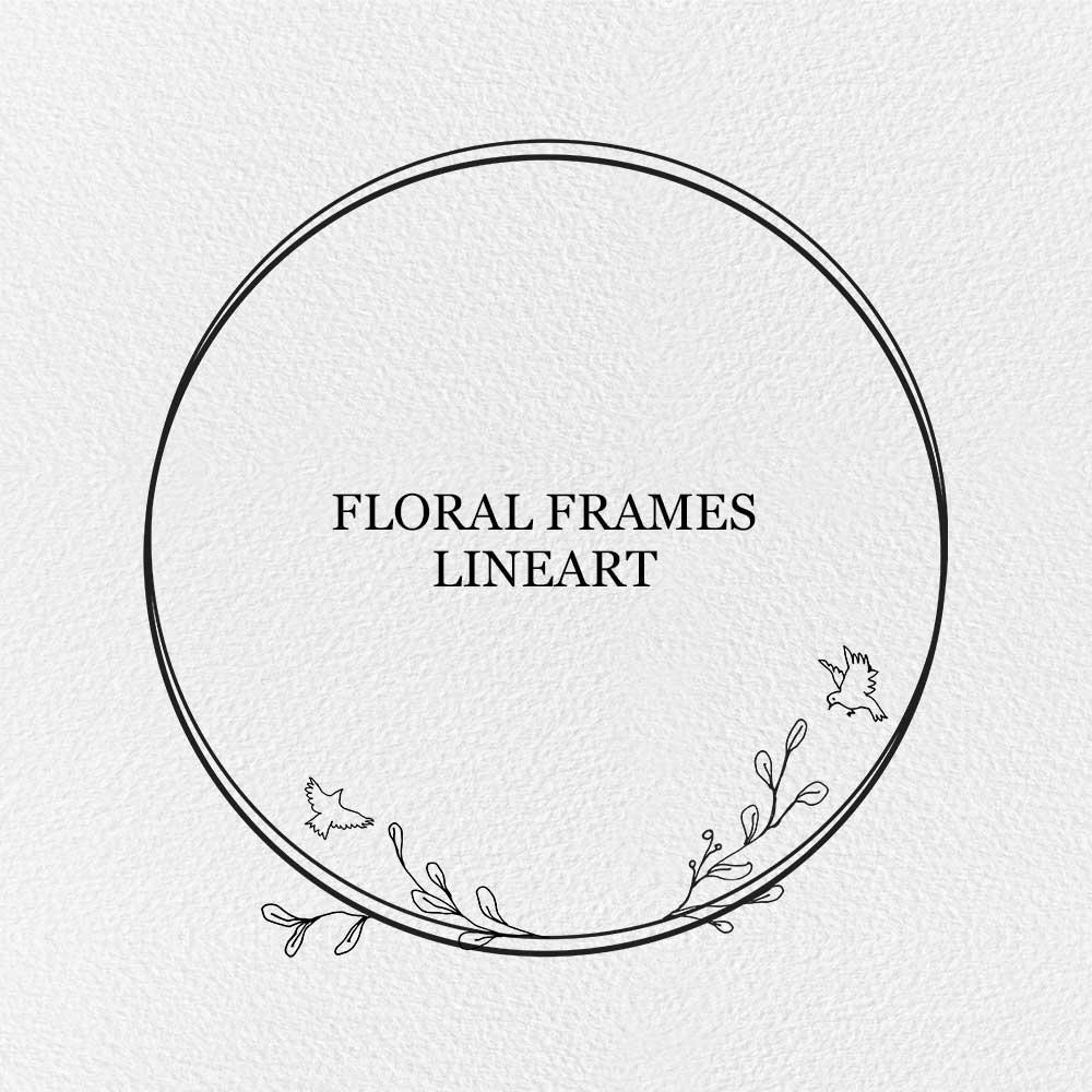 Floral Frames Lineart