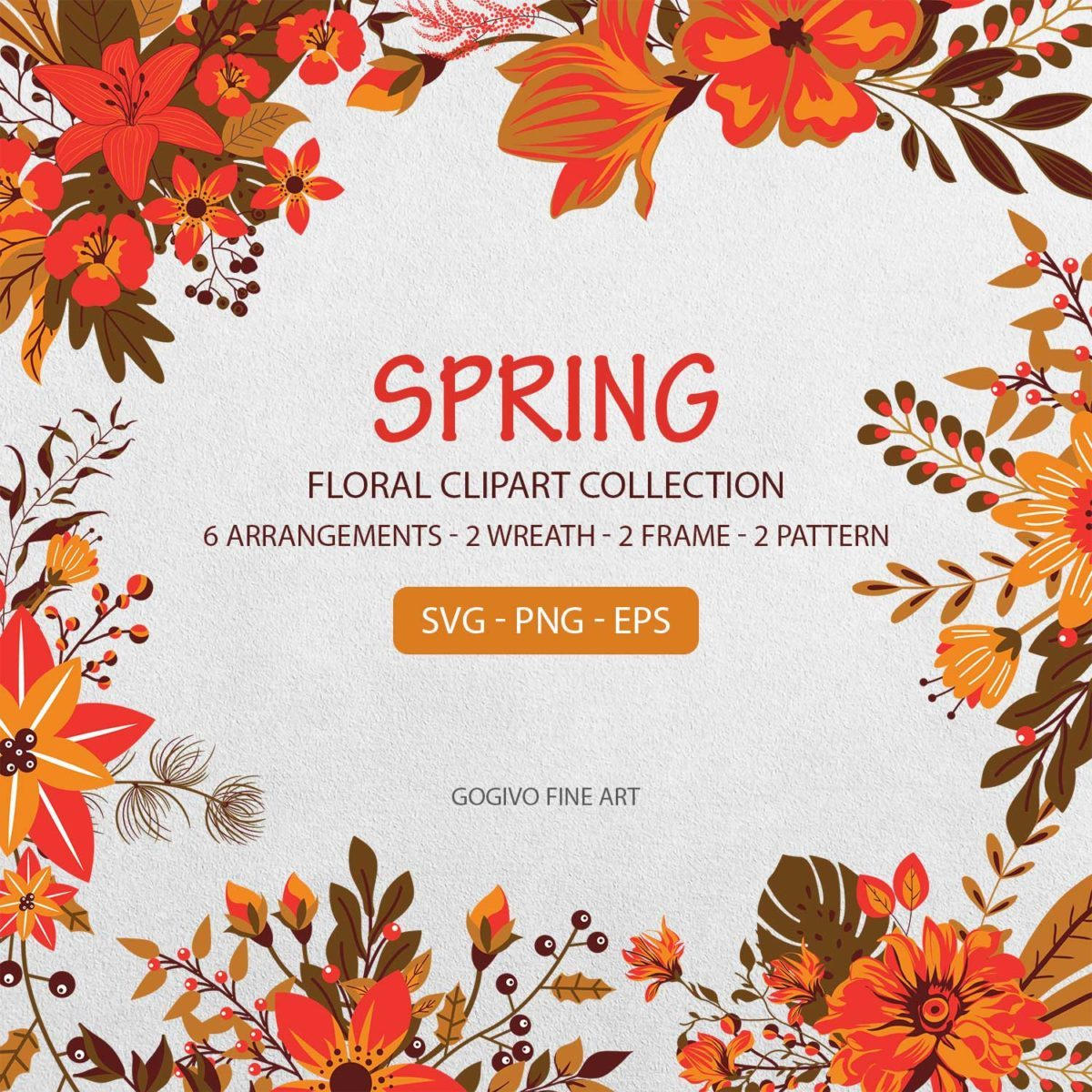 Spring Floral Clipart Collection
