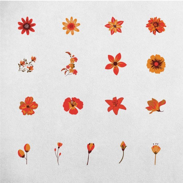 Spring 41 Floral Clipart Elements