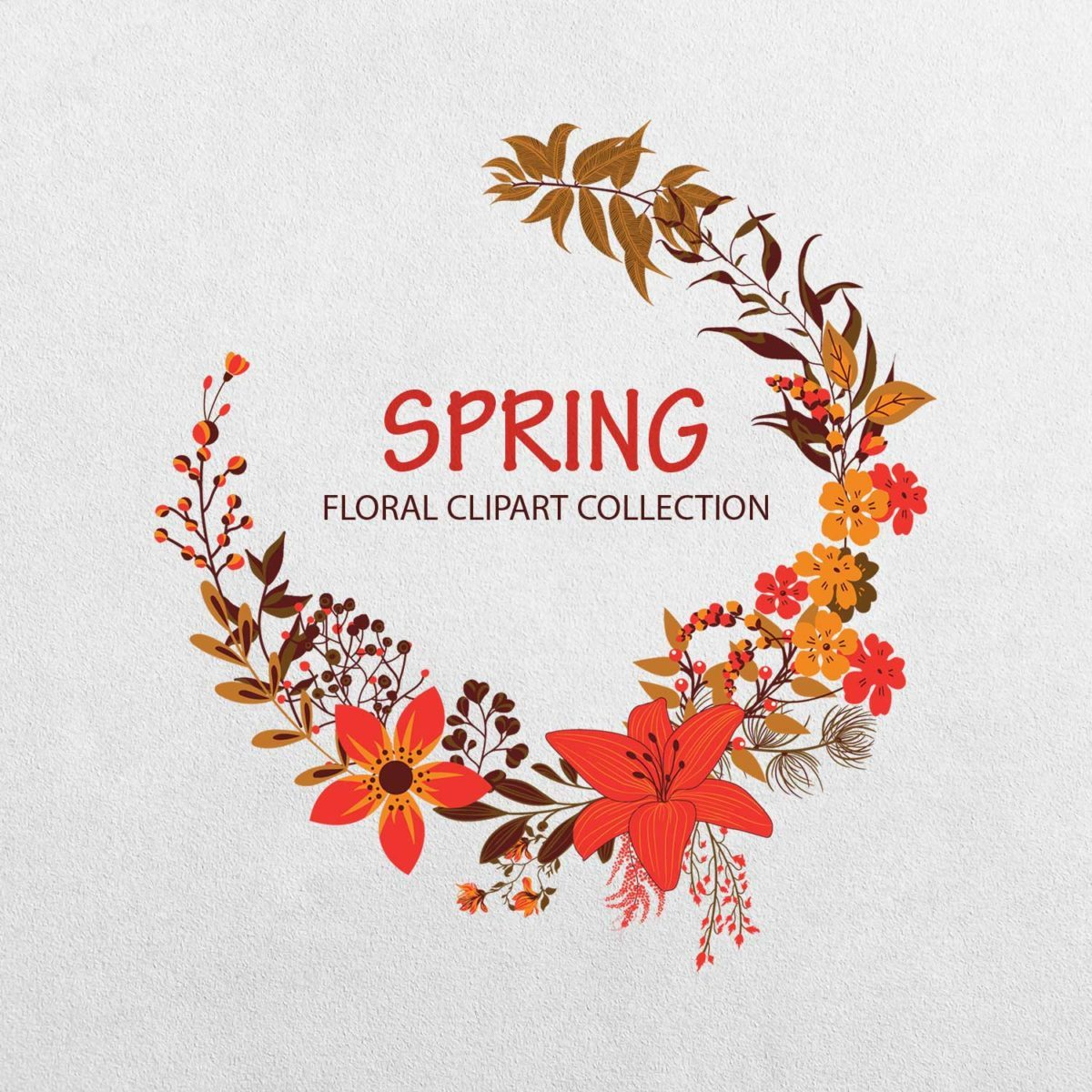 Spring Floral Clipart Collection_wreath
