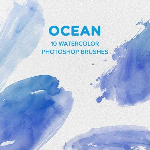 Ocean Watercolor Photoshop Brushes