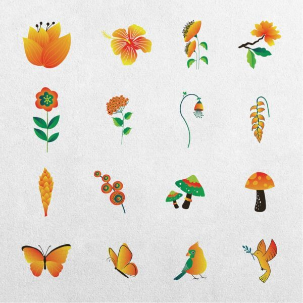 Juniper 34 Floral Clipart Elements