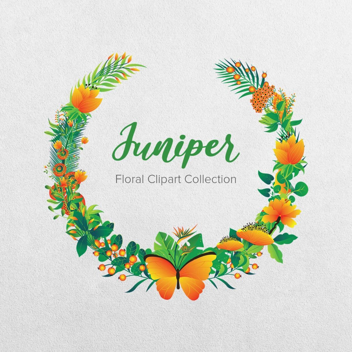 Juniper Floral Clipart Collection
