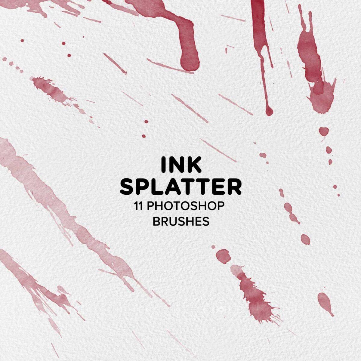 Ink Splatter 11 Photoshop Brushes