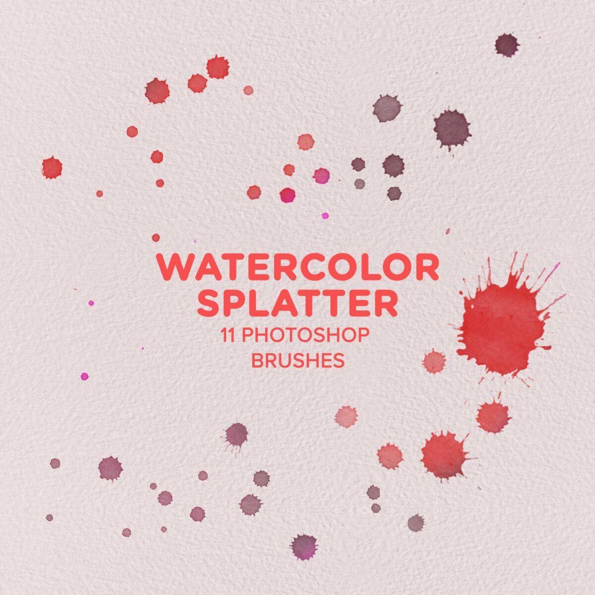 Free Watercolor Splatter Brushes