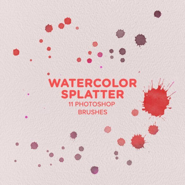 Free Watercolor Splatter Brushes