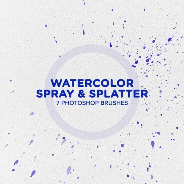 Free Watercolor Spray & Splatter Photoshop Brushes