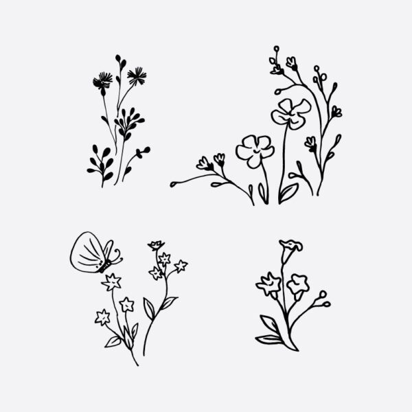 Line Drawing Flower Archives Gogivo