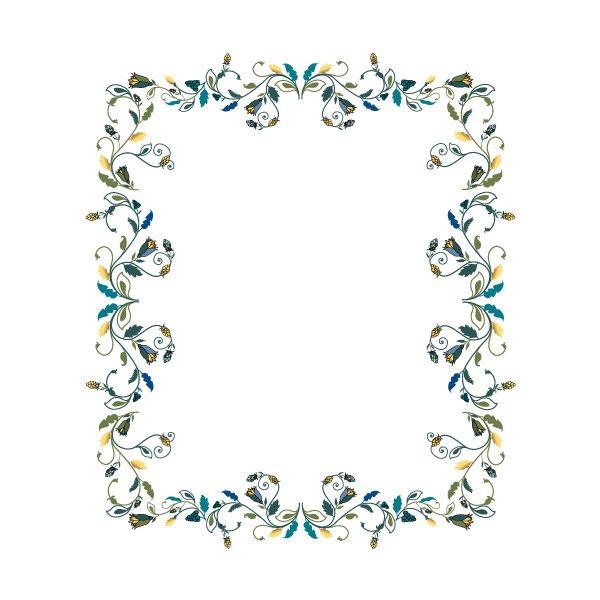 Gogivo_5239_Floral frames clipart vector
