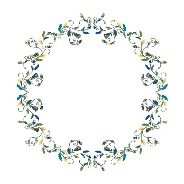 Gogivo_5198_Floral Decorative Wreath