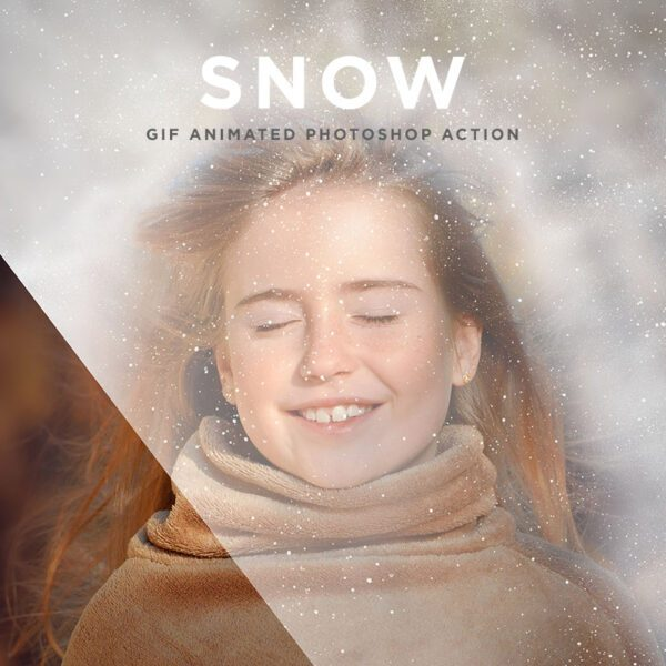 Snow Gif Animated Photoshop Action