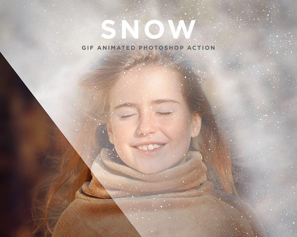 Snow Gif Animated Photoshop Action