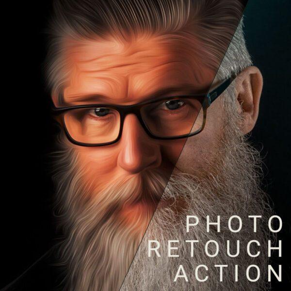 Photo Retouch Photoshop Action Photoshop One Click Skin Retouching Photo Effect Cartoon Digital Art Instant Download Gogivo