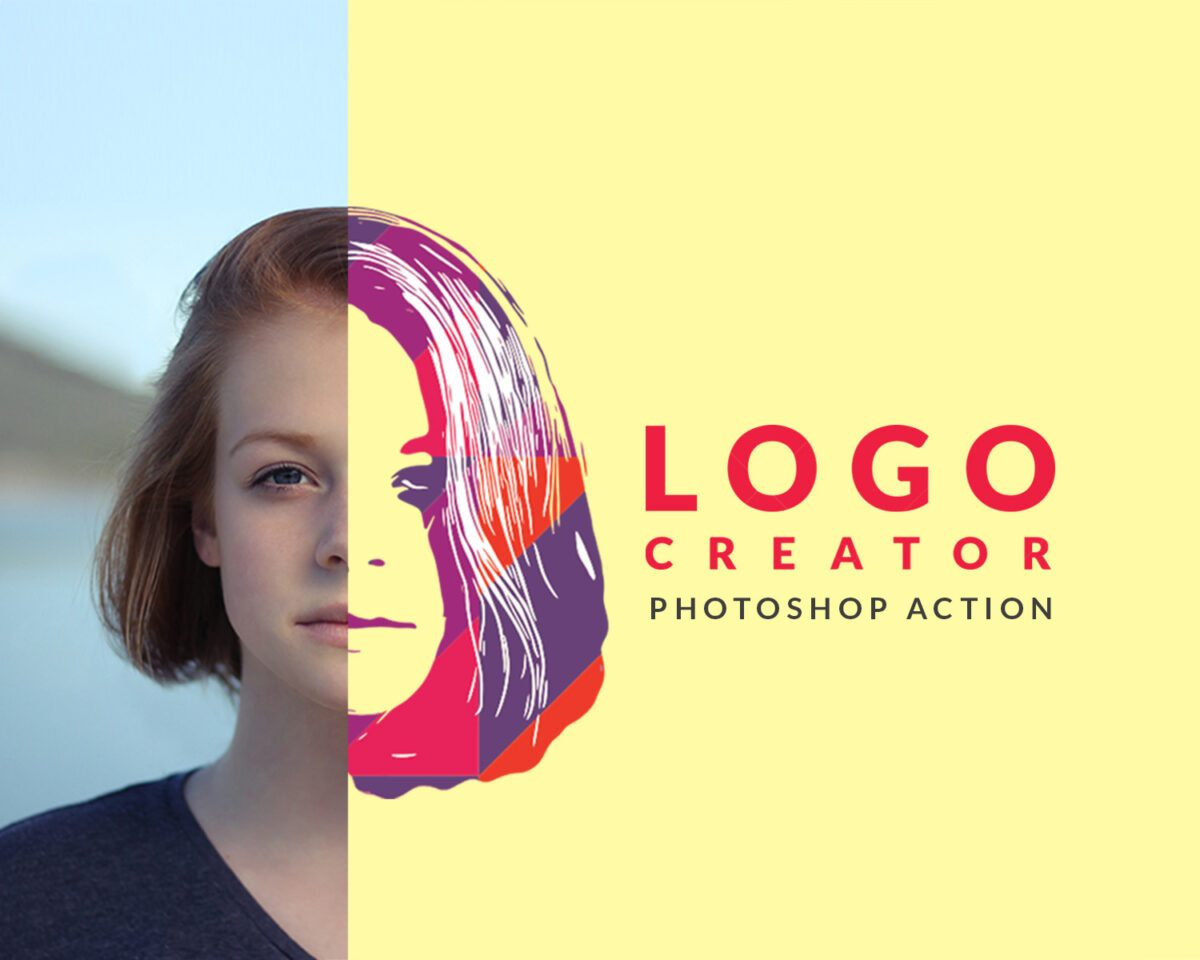 Logo creator photoshop action