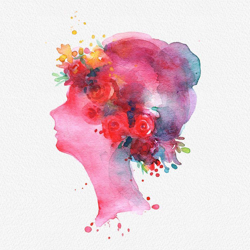 Gogivo_6147_Womens clipart_watercolor