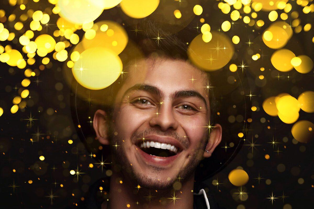 Gold Bokeh Photoshop Overlay