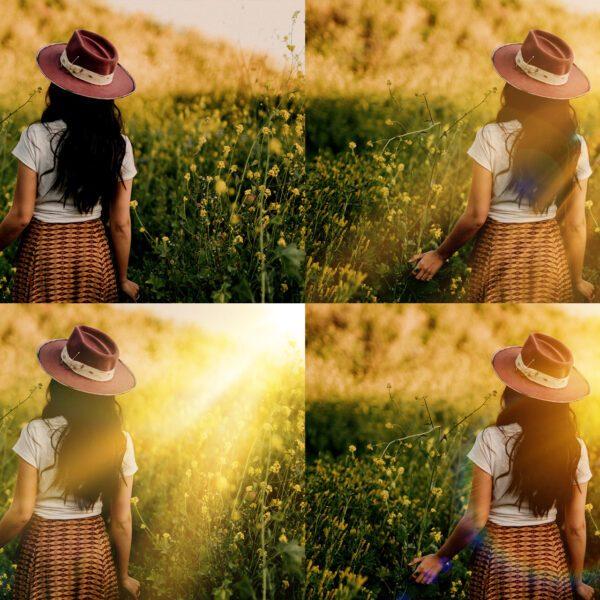 Realistic Sun Light Photoshop Overlays, Sunset Overlay, Sun Flare Overlay, Lens flare Overlay for Photoshop, Free Overlay Photoshop Action