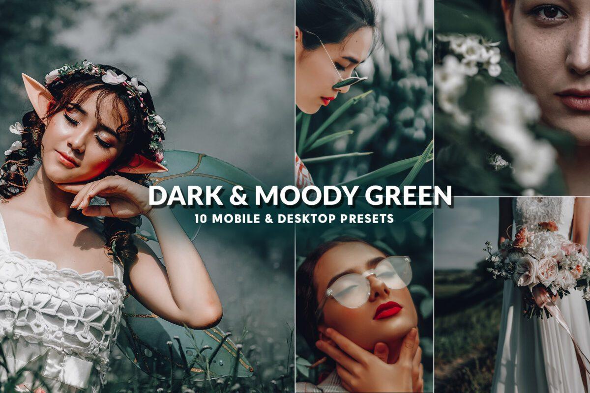 Dark & Moody Green Presets